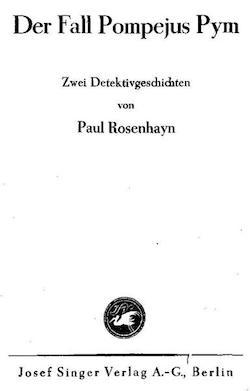 Paul Rosenhayn - Der Fall Pompejus Prym