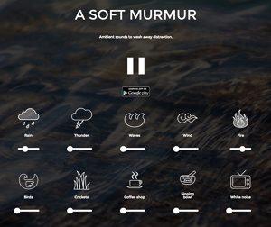 Screenshot: A Soft Murmur, eine Seite für Calmsounds