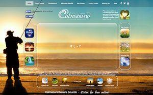 Screenshot: Calmsound, eine Seite für Calmsounds