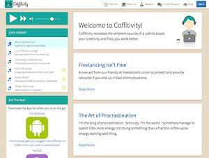 Screenshot: Coofitivity, eine Seite für Calmsounds
