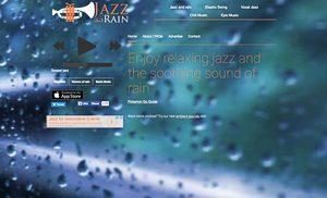 Screenshot: Jazz and Rain, eine Seite für Calmsounds