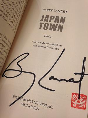 Japantown - das Buch signiert von Barry Lancet