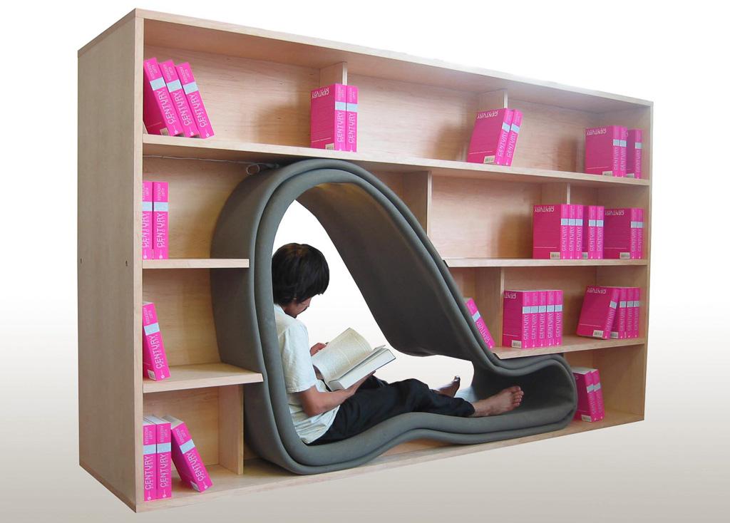 Bücherregal CAVE des Designers Sakura Adachi; Foto: Sakura Adachi