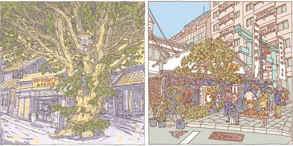 Shinji Tsuchimochi, Ansichten aus Yanaka und Kanda; aus: A hundred views of Tokyo