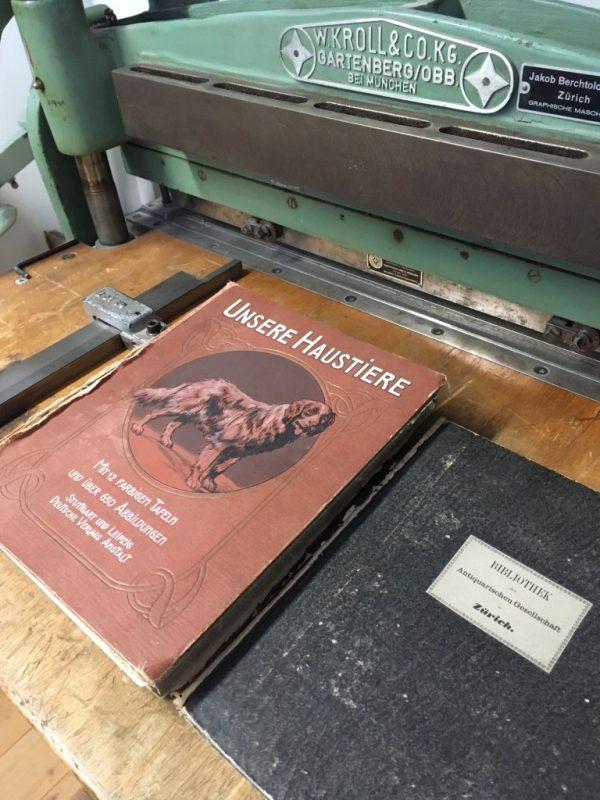 Handbuchbinderei Merten im Bodmanhaus Gottlieben; Foto: Bettina Schnerr