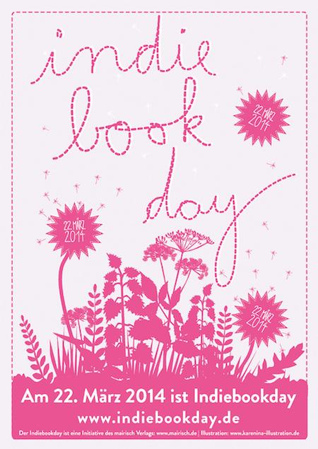 Plakat zum Indiebookday 2014; Design: Karen Köhler