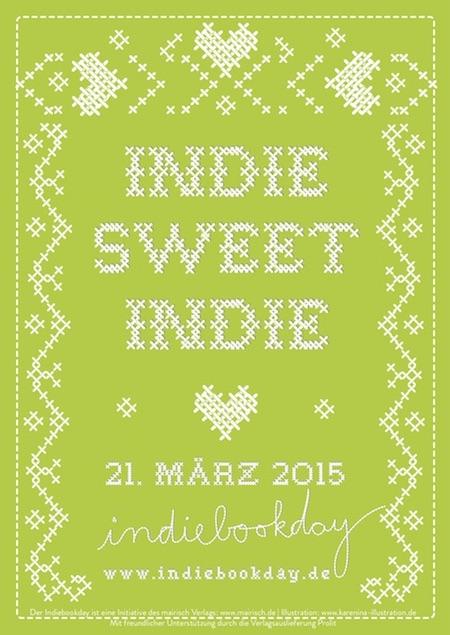 Plakat zum Indiebookday 2015; Design: Karen Köhler