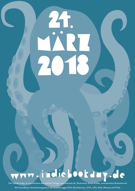 Plakat zum Indiebookday 2018; Design: Karen Köhler