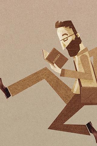 Borges; Wallpaper von Javier Arce auf Poolga