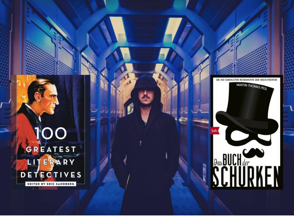 100 Schurken, 100 Detektive - eine perfekte Buchpaarung