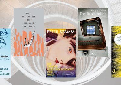 Header für das Special zum Schweizer Buchpreis 2018; Foto: Natalya Letunova, unsplash, Motiv Treppenhaus in Anlehnung an das Cover von Vincenzo Todisco