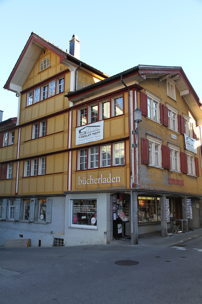 Bücherladen Appenzell; Foto: Bettina Schnerr