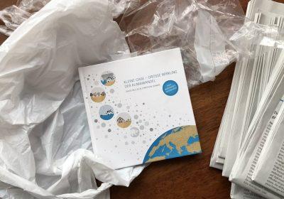 """Titelbild zur Buchvorstellung: Kleine Gase, große Wirkung - Der Klimawandel"""" von Danvid Nelles und Christian Serrer"""