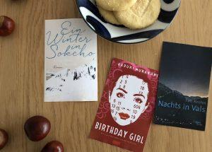 Titelbild zum Beitrag über kurze Bücher; mit Haruki Murakami, Elisa Shua Dusapin und Tim Krohn