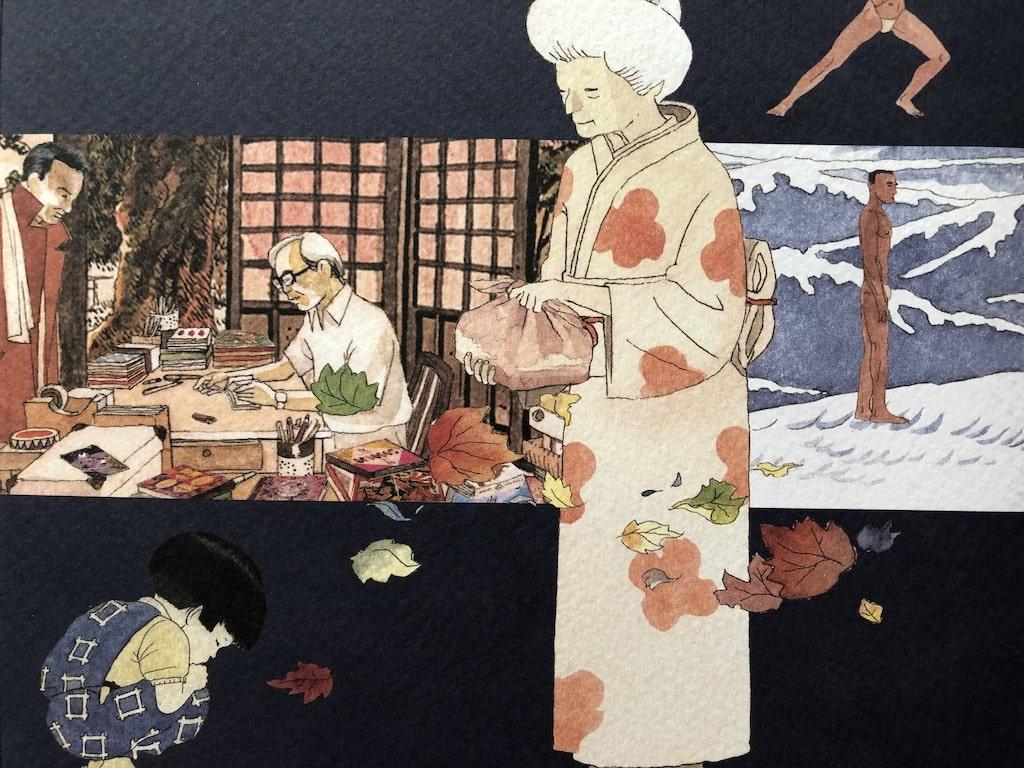 """Japan in Farbe: Igort / Titelfoto zum Beitrag unter Verwendung eines Ausschnitts vom folgendfen Buchcover: """"Berichte aus Japan. Eine Reise ins Reich der Zeichen"""""""