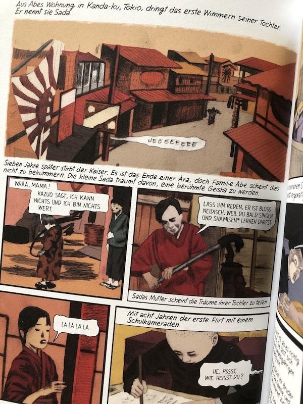 Nacherzählung des Lebens von Abe Sada
