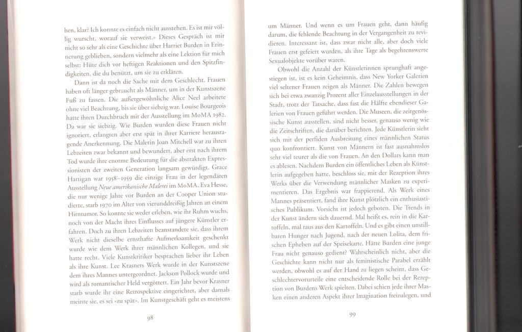 Siri Hustvedt - Die gleissende Welt / Scan der Seiten 98 und 99 für den Page 99-Test nach Ford Madox Ford.