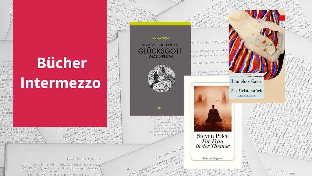 Intermezzo XI mit Titeln von Hannelore Cayre, Stephen Price und Ko Machida