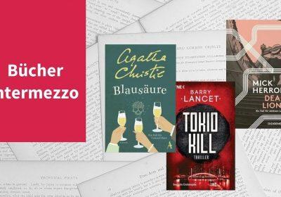 Intermezzo XIV mit Titeln von Agatha Christie, Mick Herron und Barry Lancet