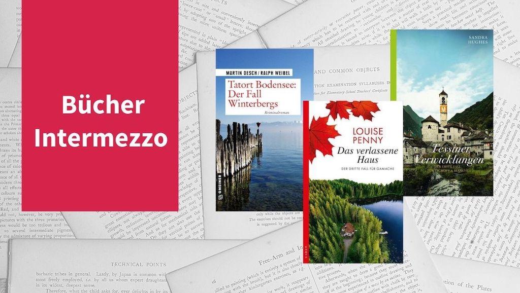 Intermezzo XVII mit Büchern von Louise Penny, Sandra Hughes sowie Martin Oesch und Ralph Weibel